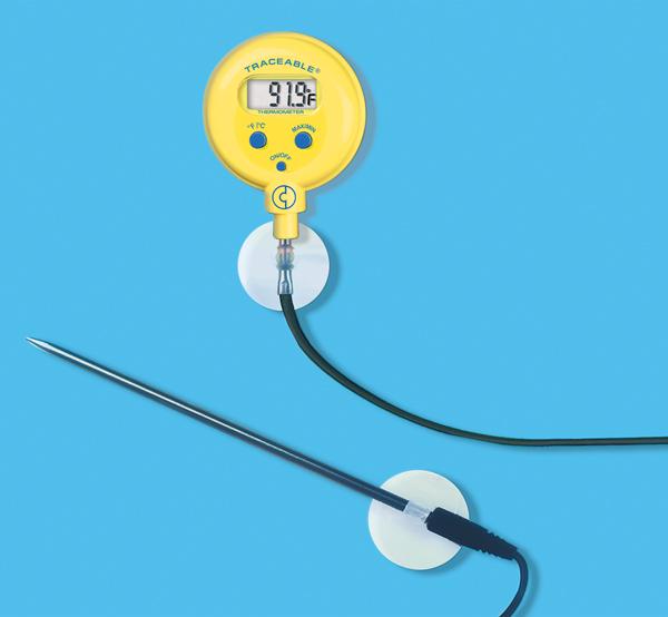 Thermomètre de poche étanche, avec sonde externe, ±1°C-0