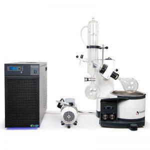Système d'évaporateur rotatif sous-vide pour distillation-0