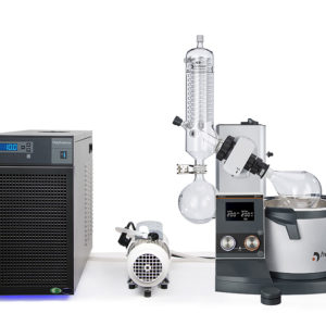 Rotary vacuum evaporator distillation package