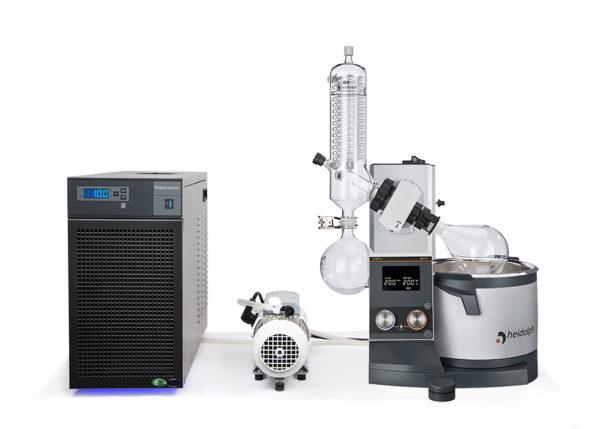 Rotary vacuum evaporator distillation package