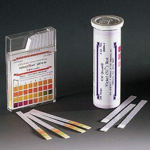 Bandelettes de mesure du pH, échelle de 0 à 6 pH, 100/pqt-0