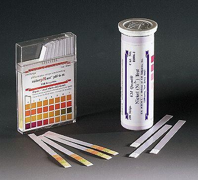 Bandelettes de mesure du pH, échelle de 0 à 6 pH, 100/pqt