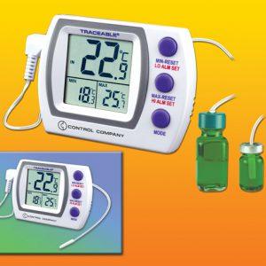 Thermomètre pour réfrigérateur et congélateur avec sonde embouteillée