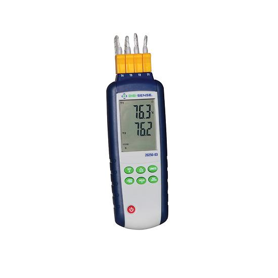 Thermomètre thermocouple enregistreur à quatre canaux -0