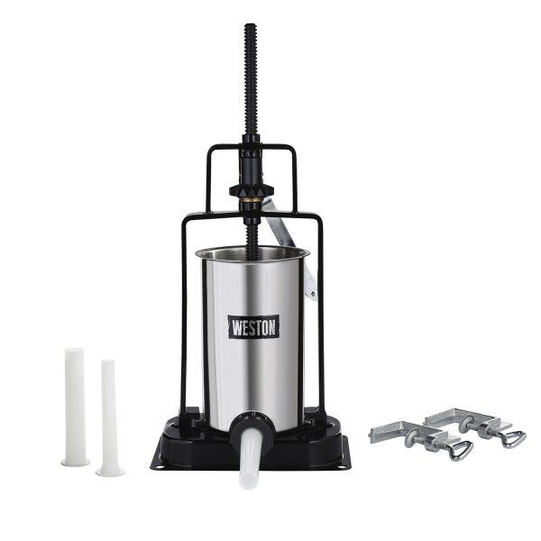 Poussoir à saucisse vertical en acier inox, capacité de 5 lbs-0
