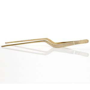 """Pince courbée à sushi, plaquée en or 14K, 8""""L"""