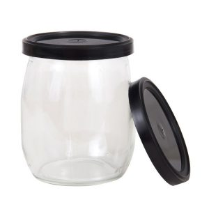 Couvercles noirs pour pots de yogourt 140mL, 100/pqt-0