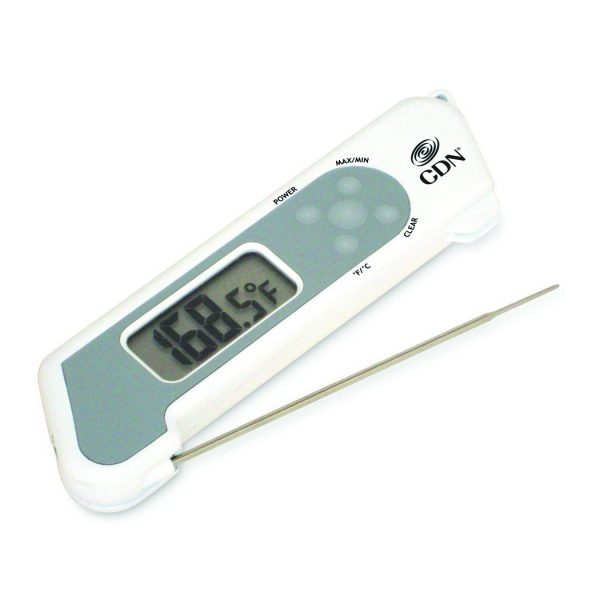 Thermomètre à sonde repliable à réponse rapide