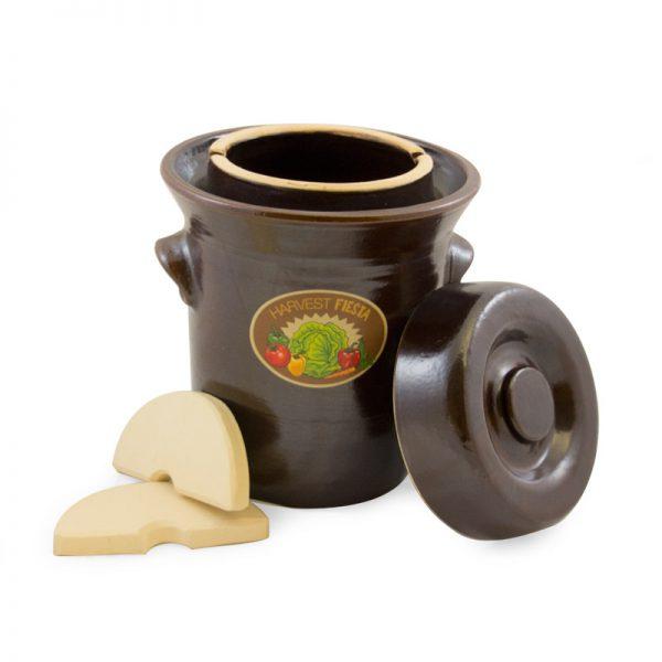 Pot de grès pour fermentation, 5L
