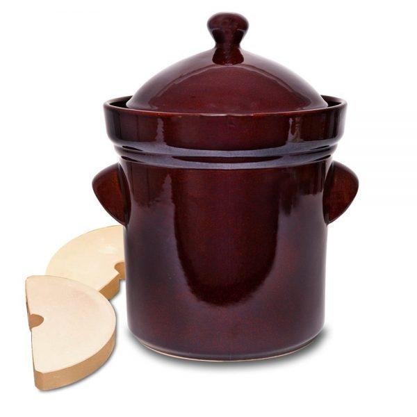 Pot de grès pour fermentation, 10L-0