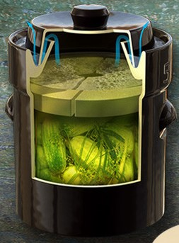 Pot de grès pour fermentation, 20L-2288
