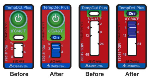 Etiquettes Température-Temps TempDot®Plus, 5°C, 100/pqt