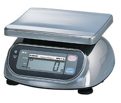 Balance alimentaire étanche, série SKWP de A&D, 2000g X 1g-0