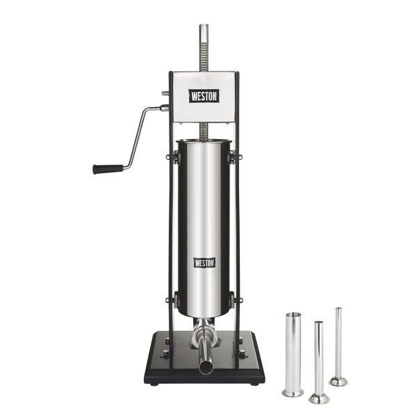 Poussoir à saucisse vertical en acier inox, capacité de 15 lbs-0