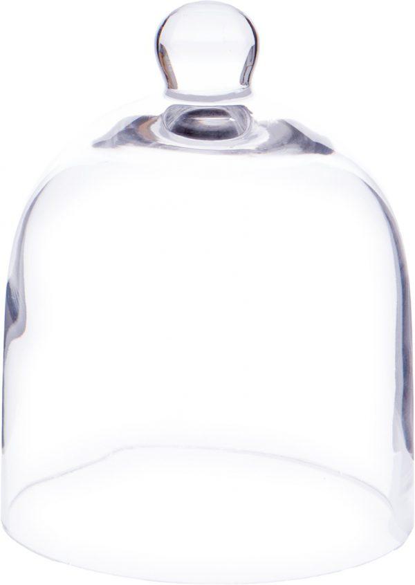 "Cloche de verre en dôme, 5"" dia X 6""H-0"