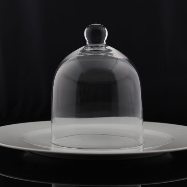 "Cloche de verre en dôme, 8"" dia X 9.5""H-2761"