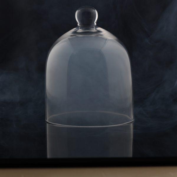 "Cloche de verre en dôme, 8"" dia X 9.5""H-2763"