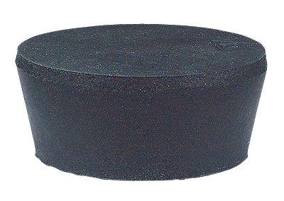 Bouchon de caoutchouc noir de pour cloches à fumer-0