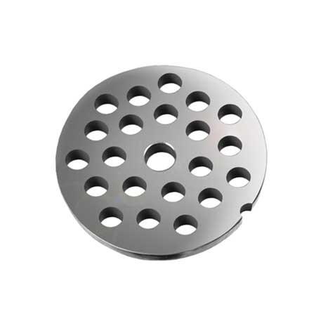 Grille avec trous de 14 mm pour hachoirs #10 ou 12-0