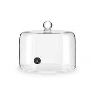 """Cloche de verre en dôme avec valve refermable, 7"""" dia X 4.5""""H-0"""