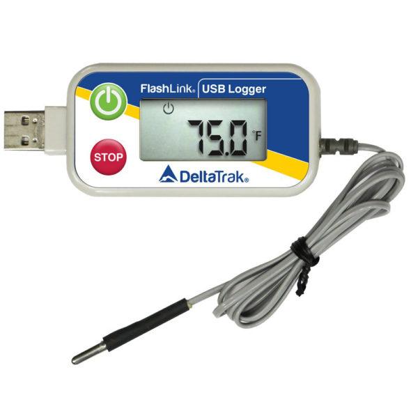 Enregistreur de température avec sonde externe à bout arrondi, port USB