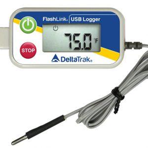 Enregistreur de température avec sonde externe à bout arrondi, port USB-0