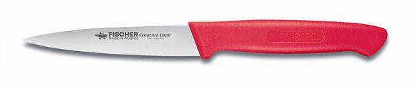 Couteau d'office, lame de 10 cm L, poignée rouge-0
