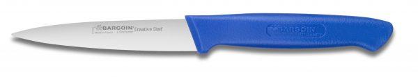 Couteau d'office, lame de 10 cm L, poignée bleue