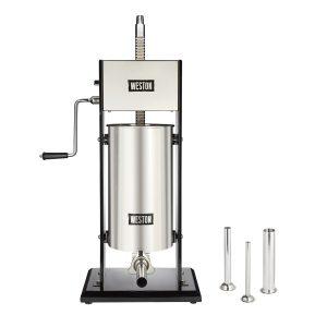 Poussoir à saucisse vertical en acier inox, capacité de 30 lbs-0