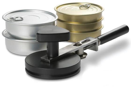 Sertisseuse à main pour boite d'aluminium ronde
